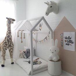 кроватка домик напольная купить