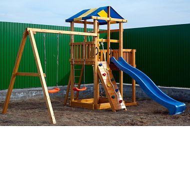 Детские площадки с горкой для дачи