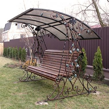 кованые качели для парков